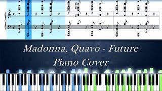 Madonna, Quavo - Future (Eurovision 2019)   Piano Cover   Instrumental Karaoke