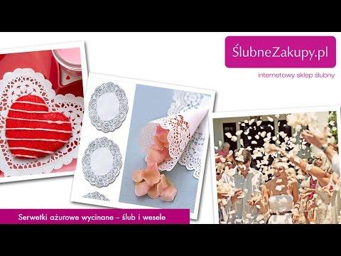 Serwetki ażurowe wycinane - jakie można zrobić dekoracje na ślub i wesele?