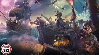 Top 10 Crazy Sea Of Thieves Pirate Legend Ship Battles