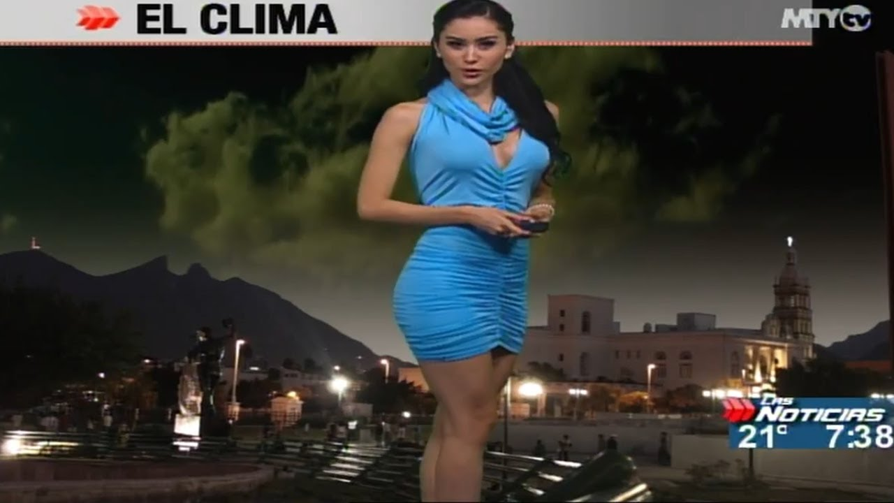 Romanian weather girl reveals chest in risque dance ...  |Mexican Weather Girls Dancing