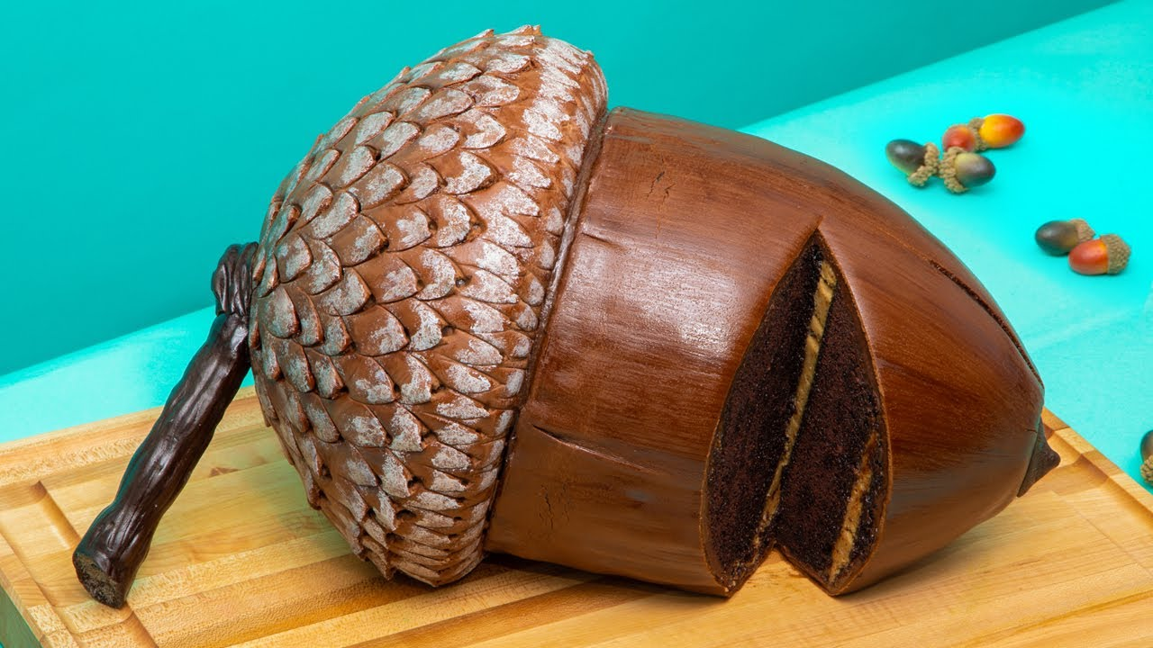 Giant 14 LB Acorn CAKE! | How To Cake It with Yolanda Gampp