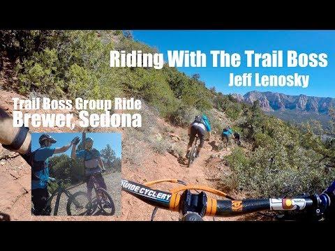 Mountain Biking Brewer, Trail Boss Ride with Jeff Lenosky, Sedona 4k
