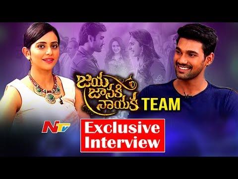 Rakul Preet Singh & Bellamkonda Sreenivas Exclusive Interview    #JayaJanakiNayaka    NTV