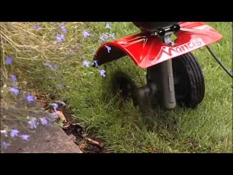 Mantis Tiller Border Edger Attachment Youtube