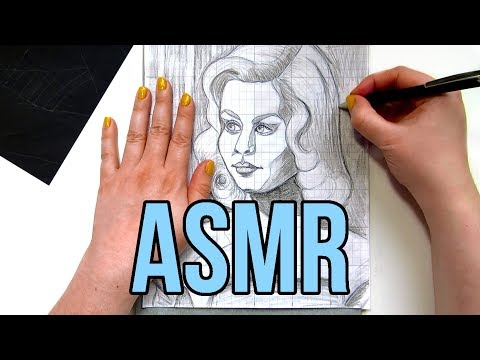 ASMR Tracing Paper No Talking || Transferring Drawings with Graphite Transfer Paper & Ballpoint Pen