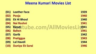Meena kumari movies list