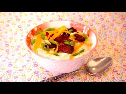 How To Make Loaded Baked Potato Soup - Potato Soup Recipe