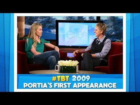 TBT Portia de Rossi's First Ellen  Appearance