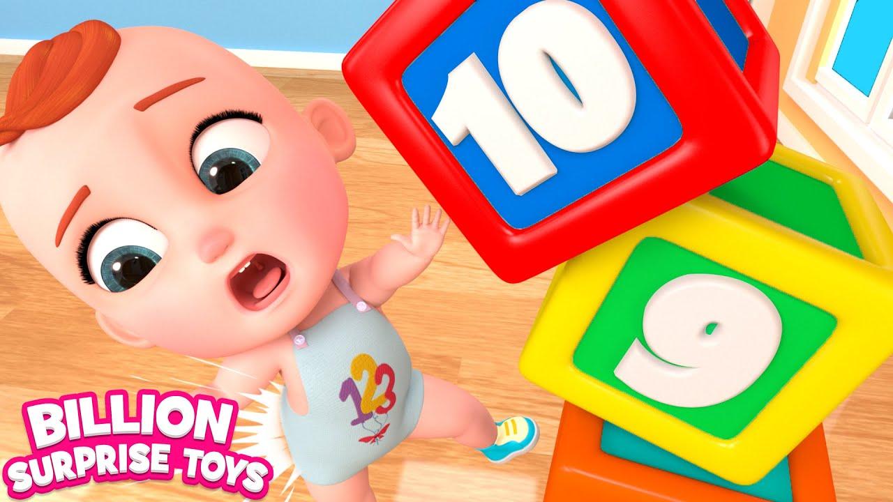 دعونا نشاهد دوللي تعلم الطفل جوني كيفية عد الأرقام