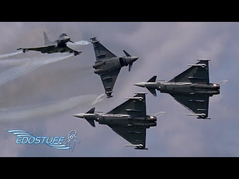 Amazing Austrian Air Force Eurofighter EF-2000 Typhoon Display - AIRPOWER16 HD