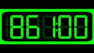 1000 Seconds (16:40 Minutes) Countdown (Digital Stopwatch Version , Remix BBC Countdown , 50FPS)