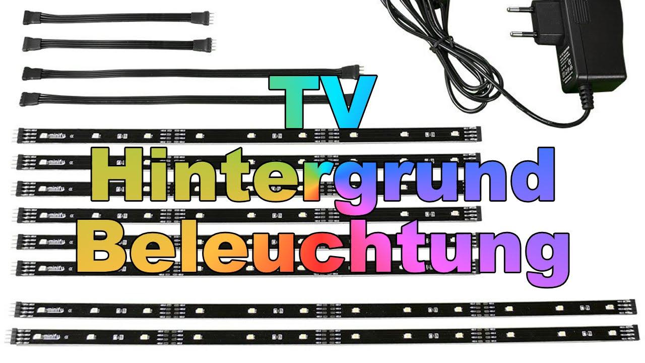 tv hintergrundbeleuchtung minify unboxing montage effekte youtube. Black Bedroom Furniture Sets. Home Design Ideas