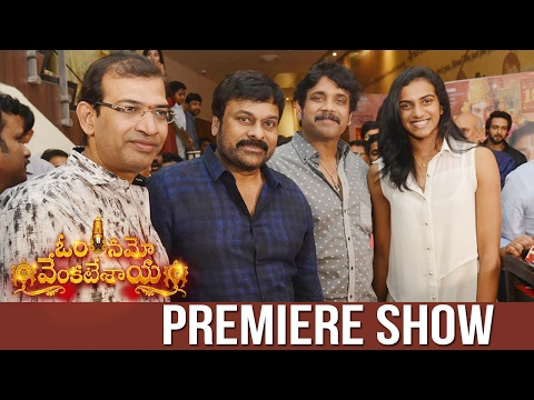 Om Namo Venkatesaya Movie Premiere at Cinemax | Chiranjeevi | Nagarjuna, | PV Sindhu | TFPC