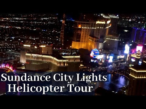 Las Vegas Helicopter Tour At Night - Sundance City Lights Helicopter Tour | TVPVlogs 1