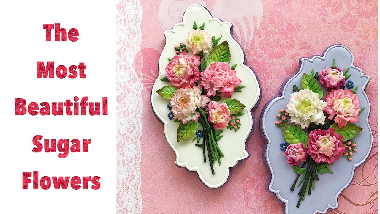 The most beautiful sugar flowers. How to decorate flower bouquet ...