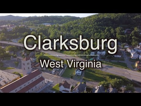 Downtown Clarksburg From the Sky