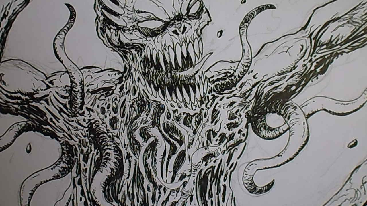 Scribble Monster Drawing : How to draw a monster youtube