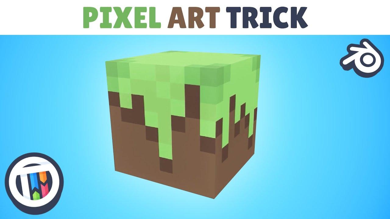 Tutorial How To Create Pixel Art In Blender 28 Eevee