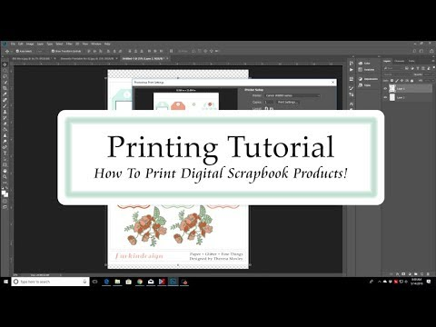 Printing Digital Scrapbook Supplies | Tutorial for Printing on A4 Size Paper (Or Any Size!)