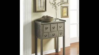 Altra Furniture Accent Console Table With 6 Drawers