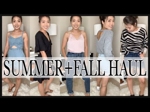 SUMMER FALL Try-On HAUL☀️🌿🍂✨EASY COMFY & CHIC Outfits MUST HAVE For Summer to Fall☀️🌿🍂✨|GINALVOE