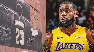 LeBron James' Banner Removed In Cleveland After Joining Lakers!