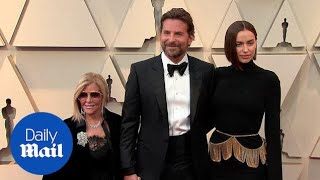 Bradley Cooper joined by mother and Irina Shayk at 2019 Oscars