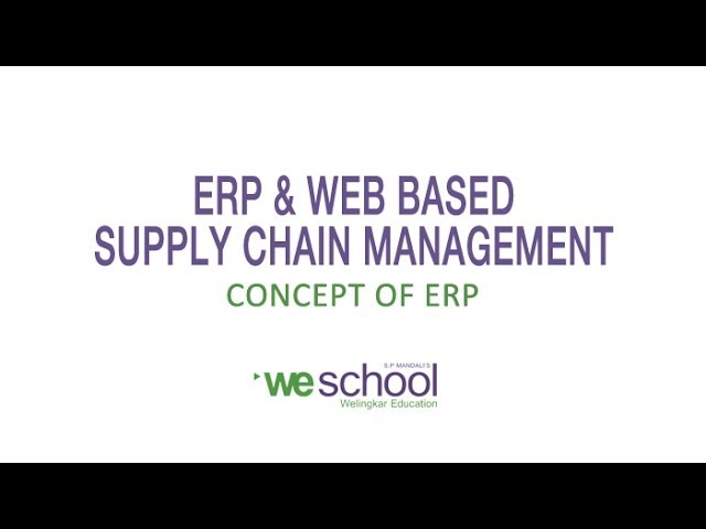 ERP System Concepts - YouTube