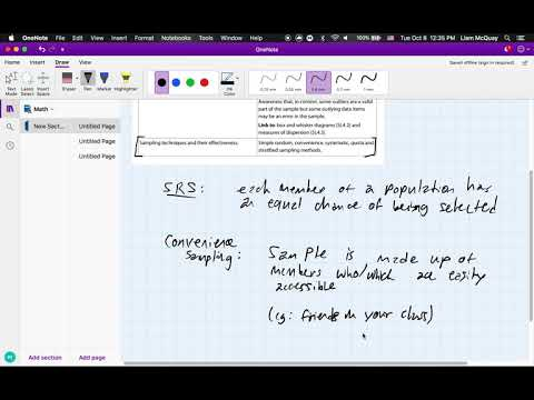 IB Mathematics Analysis/Applications (SL/HL) – Sampling Techniques thumbnail