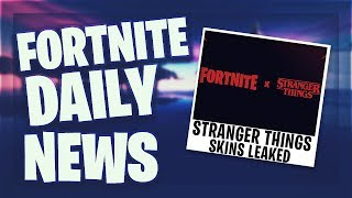 *LEAKED* STRANGER THINGS SKINS - Fortnite Daily News (4 Juli 2019)