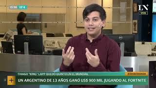 Un argentino de 13 años ganó 900 mil dólares jugando al Fortnite