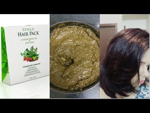 Synaa Herbal Hair pack!!How to Soak,Apply Synaa pack for deep Coloring & Conditioning..