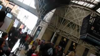 Evacuation alarm at paddington station -