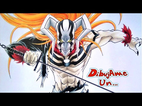 Dibujando a ICHIGO HOLLOW. Drawing ICHIGO VASTO LORDE. BLEACH DIBUJAME UN