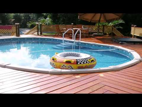 Above Ground Pool Wood Deck Plans