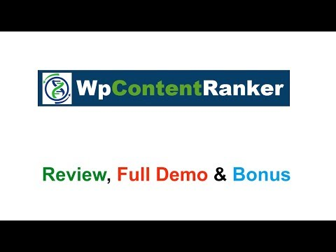 WP Content Ranker Review Demo Bonus - Drag and Drop Content Creation Plugin