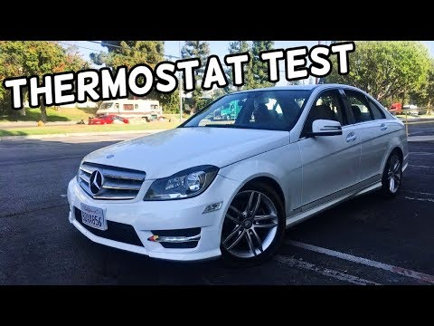 HOW TO TEST THERMOSTAT ON MERCEDES C200 C220 C250 C260 C280 C300 C350