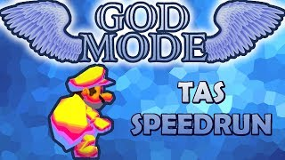 [TAS] New Super Mario Bros DS GOD MODE Speedrun | HD 60FPS