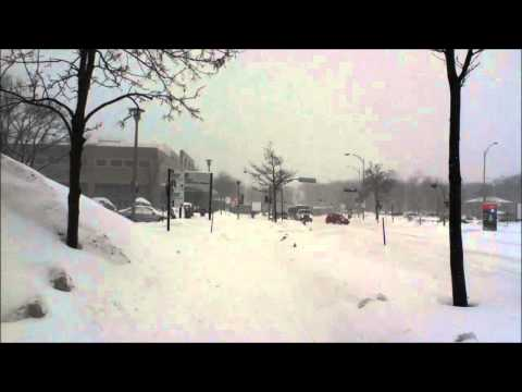Winter Snow Storm in Université Laval Quebec Canada
