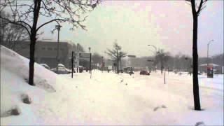 Winter Snow Storm in Université Laval Quebec Canada