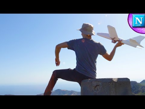 Throwing A Foam Airplane Off A HUGE Mountain
