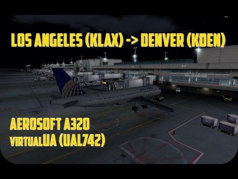 Prepar3D: VATSIM   Los Angeles - Denver   United Airlines   Aerosoft Airbus