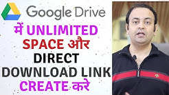 GOOGLE DRIVE direct download link 2020 | Unlimited Space On [Google Drive] | Techno Vedant