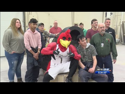 Erie County Technical School and Erie Bayhawks unveil Flagship Cannon project