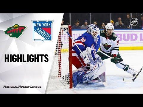 NHL Highlights   Wild @ Rangers 11/25/19