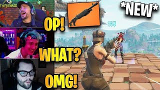 Streamers First Time Using *NEW* Pump Shotgun! *LEGENDARY* | Fortnite Highlights & Funny Moments