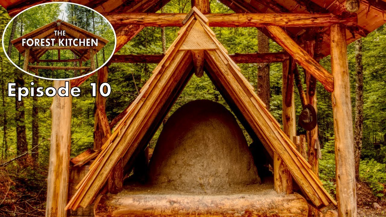 primitive-clay-mud-oven-the-forest-kitchen-off-grid-log-cabin-build-ep-10-s1