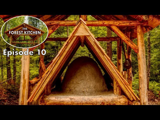 Primitive Clay Mud Oven | The Forest Kitchen | Off Grid Log Cabin Build, Ep.10 S1
