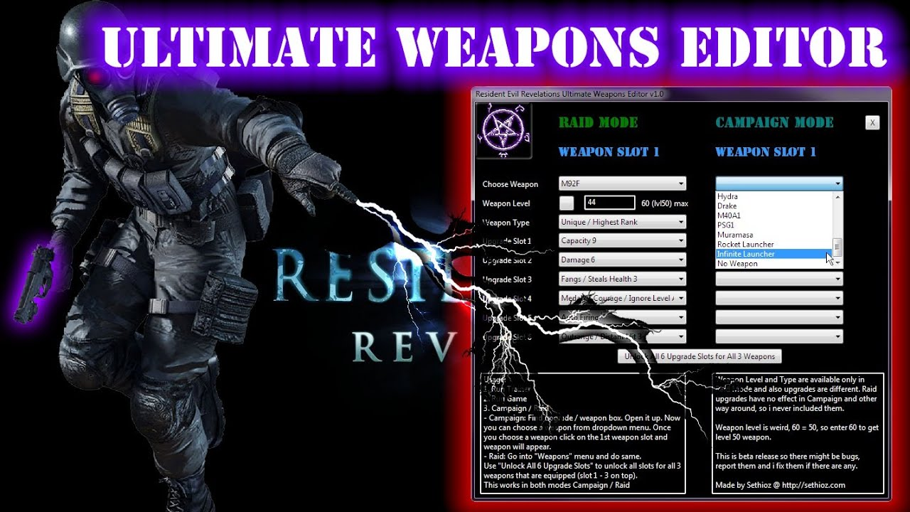 Resident Evil Revelations Ultimate Weapons / Upgrades ...