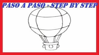 Como dibujar un Globo Aerostático l How to draw a Hot Air Balloon
